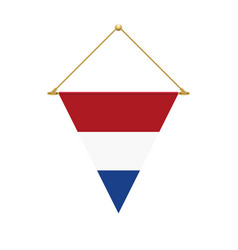Dutch triangle flag hanging vector