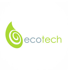 eco green leaf technology logo vector image