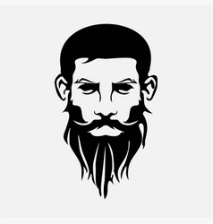 face with beard vector image