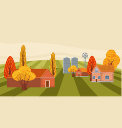 farm modern flat cartoon design style vector image