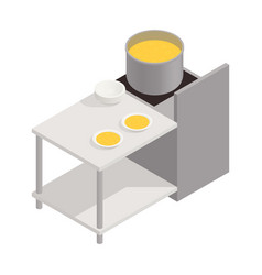Field kitchen icon vector