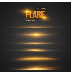 Flare Effect Transparent Overlay vector