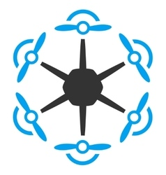 Flying Hexacopter Icon vector