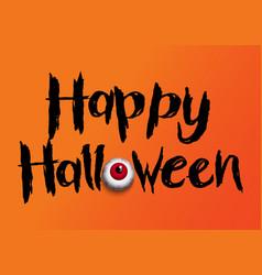 halloween background with eyeball vector image
