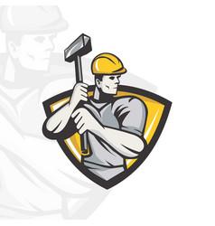 Hammer logo vector