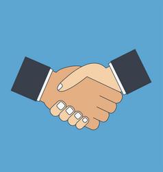 handshake flat icon vector image