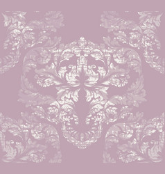 Imperial damask pattern ornament decor vector
