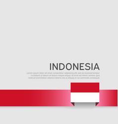 Indonesia flag background ribbon flag vector