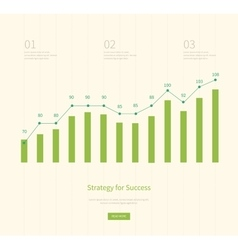 Infographic business arrow shape template design vector