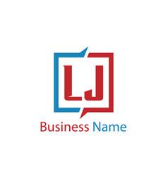 Initial letter lj logo template design vector