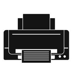 Inkjet printer icon simple style vector