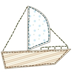 Isolated Patchwork Boat vector
