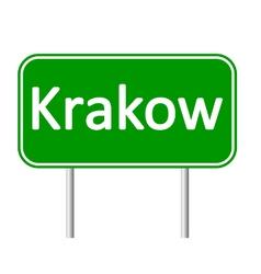Krakow road sign vector
