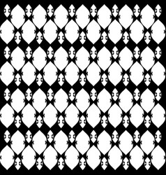 Lacy black and white pattern five vector
