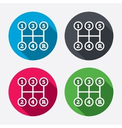 Manual transmission sign icon Mechanic control vector