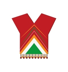 Mexican poncho icon vector