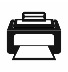 Modern laser printer icon simple style vector