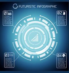 Modern virtual technology infographics vector