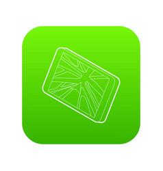 navigator icon green vector image