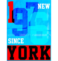 new york typography fashion style tee art vector image