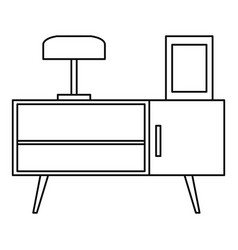 Night stand icon outline style vector