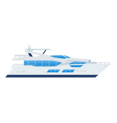 passenger boat icon flat isolated vector image