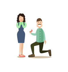 People and relations concept flat vector