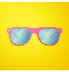 Pink Ladies Sunglasses vector image