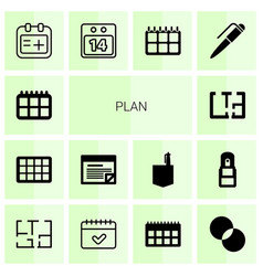plan icons vector image