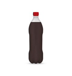 realistic plastic bottle vector image