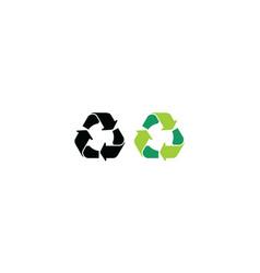 recycle symbol logo icon vector image