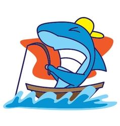 Shark Fishing vector image