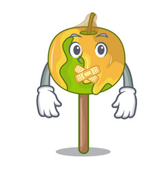 Silent candy apple mascot cartoon vector