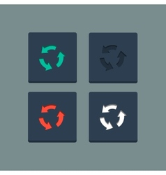 Simple stamp flat arrow icons vector image