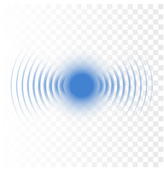 Sonar wave sign radar icon vector