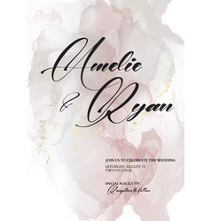 tender soft rose grey ink watercolor wedding with vector image