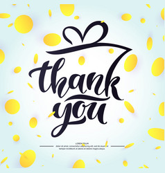 thank you modern hand drawn lettering phrase and vector image