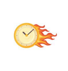 time management clock poster vector image