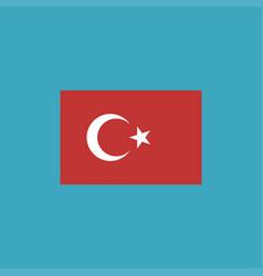 turkey flag icon in flat design vector image