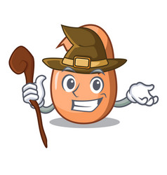 Witch shell of broken egg on the mascot vector