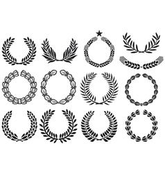 Wreath set vector image vector image