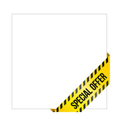 yellow caution tape with words special offer vector image