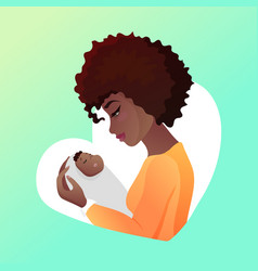 Young mother with baby in her hands vector