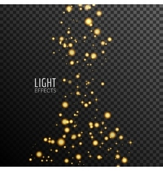 Abstract sparkles on dark transparent background vector image vector image