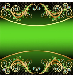 background with jewels and ornaments stripe for te vector image vector image