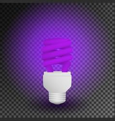 fluorescent ultraviolet economical light bulb vector image