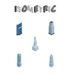 Isometric skyscraper set of residential apartment vector