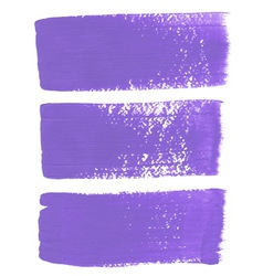 Lilac ink brush strokes vector image