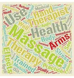 Massage Therapist text background wordcloud vector image vector image