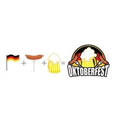 Oktoberfest logo Emblem Beer Festival in Germany vector image vector image